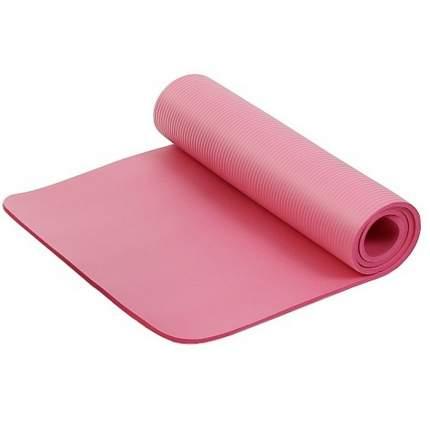 Коврик для фитнеса и йоги Larsen NBR розовый 10 мм 183 см