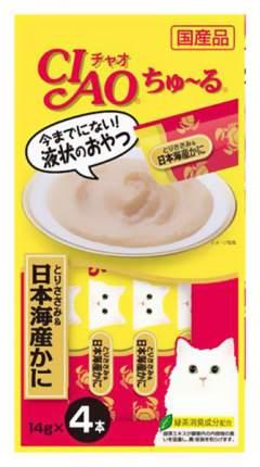 Лакомство для кошек Premium Pet Japan Глубоководный краб и парное филе курицы
