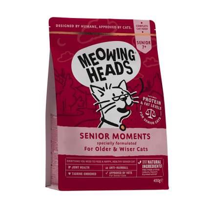 Сухой корм для кошек Barking Heads Meowing Heads Senior Moments, лосось, 0,45кг