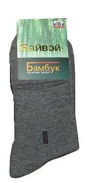 Носки мужские бамбуковые серые, размер 41-47