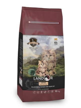 Сухой корм для котят Landor KITTEN, утка с рисом, 10кг