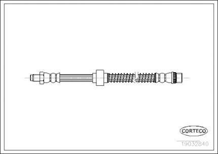 Шланг тормозной системы CORTECO 19032840