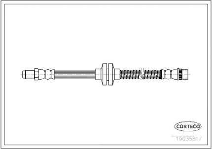 Шланг тормозной системы CORTECO 19035817