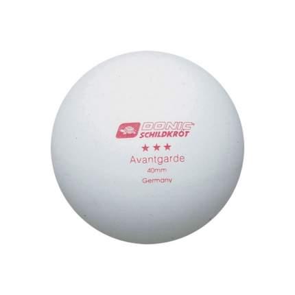 Мячи для настольного тенниса Donic Avantgarde 3 белые, 6 шт.