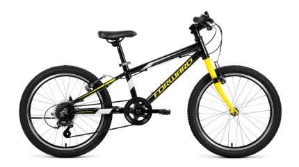 "Велосипед Forward Rise 20 2.0 2019 11"" black/yellow"