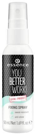Спрей для лица Essence You better work! для фиксации макияжа 50 мл