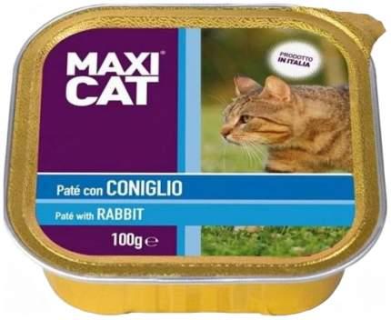 Консервы для кошек Maxi Cat, кролик, 100г