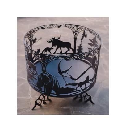 Чаша для костра с мангалом Лесное царство