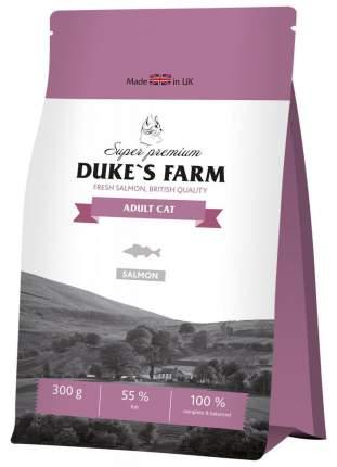 Сухой корм для кошек DUKE'S FARM, лосось, 0,3кг