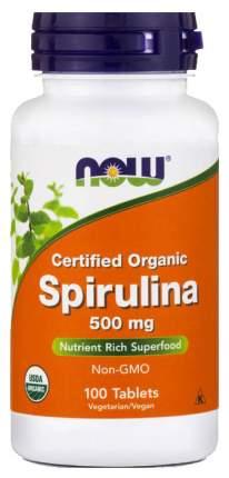 Спирулина NOW 500 мг таблетки 100 шт.