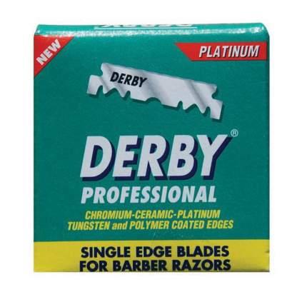 Сменные лезвия для бритья Derby Professional Single Edge Blades 100 шт