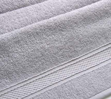 Полотенце махровое с бордюром (платиновое) 40х70