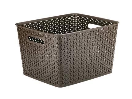 Коробка для хранения MY STYLE L темно-коричневая