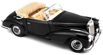 Машинка Maisto черная - Mercedes Benz 300 S Cabrio 1955г 1:18