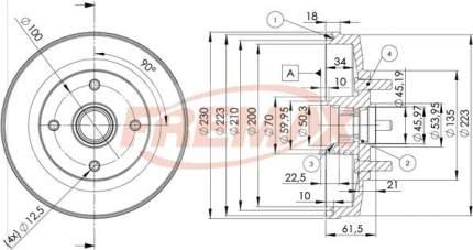 Тормозной барабан FREMAX BD-3247