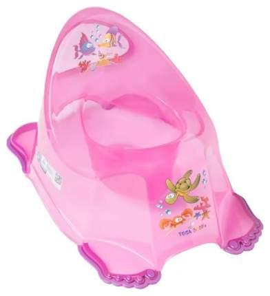 ТЕГА Детский горшок антискользящий AQUA (АКВА) прозрачный розовый AQ-007-117