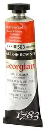 Масляная краска Daler Rowney Georgian кадмий красный 75 мл,