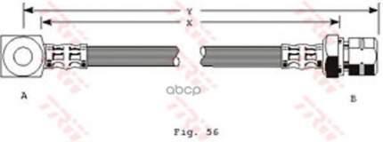 Шланг тормозной TRW для PHD243