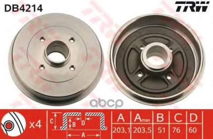 Барабан тормозной TRW/Lucas DB4214