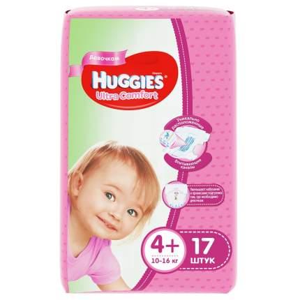 Подгузники Huggies Ultra Comfort для девочек 4+ (10-16 кг), 17 шт.