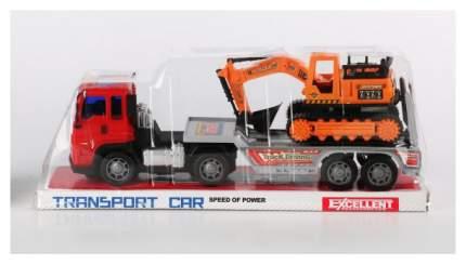 Трейлер Погрузчик с Экскаватором Transport Car Shenzhen Toys В56100