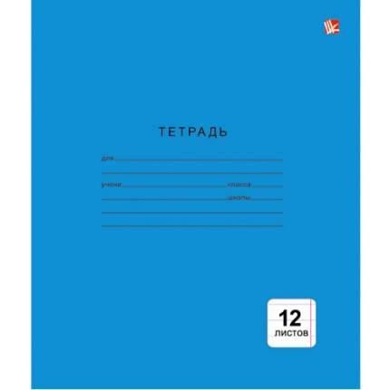 """Тетрадь """"Однотонная синяя"""" (А5, 12л, скрепка, линия), ТЛ123987 в ассортименте"""