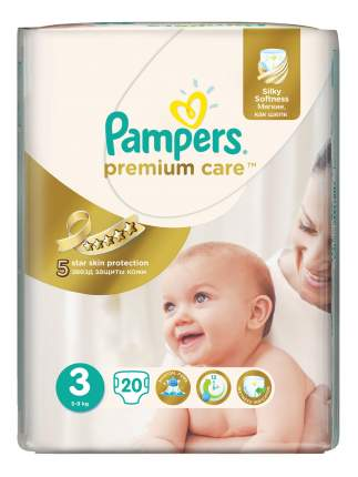 Подгузники Pampers Premium Care 3 (5-9 кг), 20 шт.