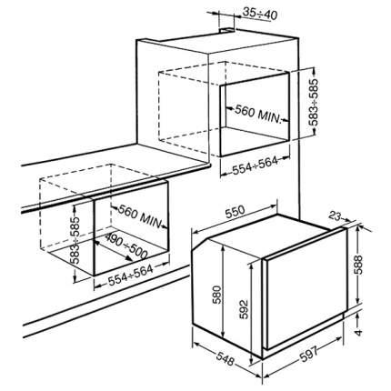 Встраиваемый электрический духовой шкаф Smeg SFP120-1 Silver
