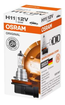 Лампа галогенная автомобильная OSRAM H11 12V 55W Pgj19-2 Original Line (64211)