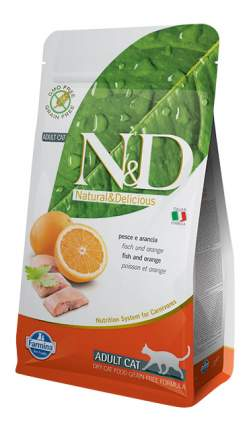 Сухой корм для кошек Farmina N&D, рыба и апельсин, 1,5кг