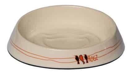 Одинарная миска для кошек Rogz, силикон, керамика, белый, 0.2 л