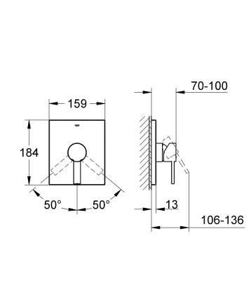 Смеситель для встраиваемой системы Grohe Allure 19317000 серебристый