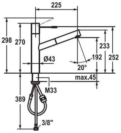 Смеситель для кухонной мойки Franke KWC ONO 115.0308.199 хром