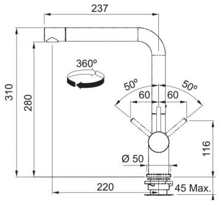 Смеситель для кухонной мойки Franke Active Plus 115.0373.811 миндаль