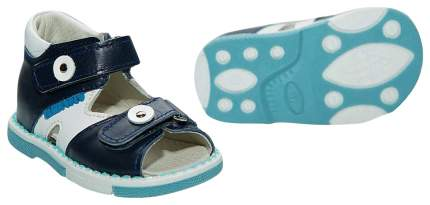 Сандалии детские Таши Орто С логотипом на липучках бело-синие