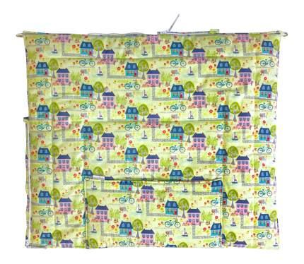 Конверт для новорожденных Домики Little Kiddy LK-00019_зеленый