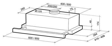 Вытяжка встраиваемая Shindo Geo 60 1M SS/BG Silver/Black