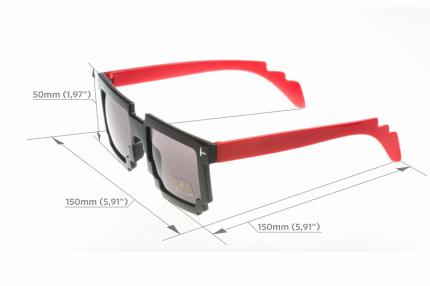 Пиксельные очки красные дужки