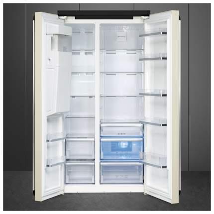 Холодильник Smeg SBS963P Beige