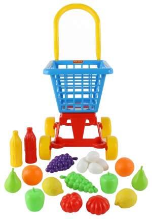 Тележка Palau Supermarket №1 + набор продуктов в сеточке