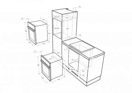 Встраиваемый электрический духовой шкаф  Maunfeld MEOFE.676RILB2.TMS