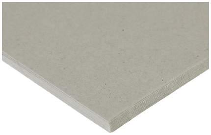 Переплетный картон для творчества (набор 10 листов) 15х15 см, толщина 1 мм (серый)