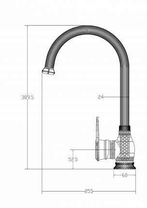 Смеситель для кухни Milacio MC.505.BBR, чёрная бронза