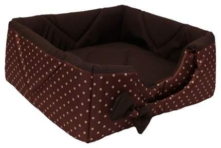 Домик для кошек и собак Lion Кубик, коричневый, бежевый, 45x45x45см