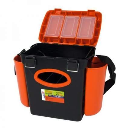 Рыболовный ящик Тонар Helios FishBox 10 л односекционный черно-оранжевый