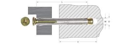 Анкерный крепеж Зубр Pz 10 0х152мм ТФ3 30шт