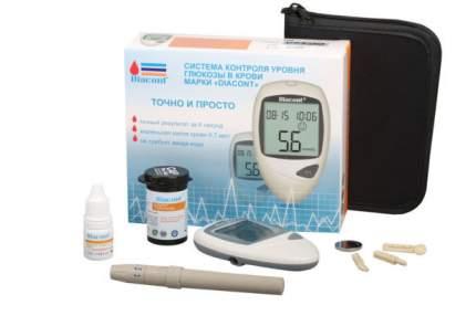 Глюкометр Diacont 2598 автоматически считывает код тест-полоски