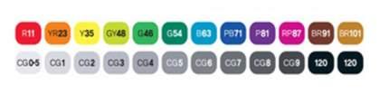 Набор двухсторонних спиртовых маркеров Touch Twin 24 Штуки