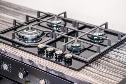 Встраиваемая варочная панель газовая LEX GVG 640-1 BL Black