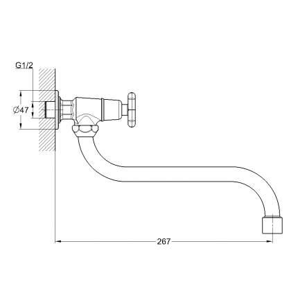 Кран для воды Solone JIK13-A102-A